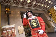 Take your photo with Tom Sweeney, the beefeater-clad doorman of the Sir Francis Drake Hotel and 'the most photographed guy in San Francisco.' #travel #onlyinsanfrancisco