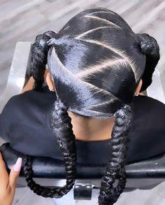 Bantu Knot Hairstyles, Lemonade Braids Hairstyles, Tail Hairstyle, Black Girl Braided Hairstyles, Black Girl Braids, Baddie Hairstyles, Braids For Black Hair, Curled Hairstyles, Protective Hairstyles