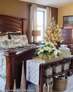 4 generaciones dormitorio Navidad Home Tour / Navidad del arbolado