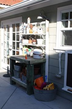 potting bench - diy