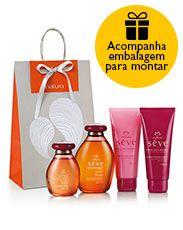 Presente Sève Pimenta Rosa e Gengibre - Óleo  + Desodorante Hidratante + Sabonete + Embalagem