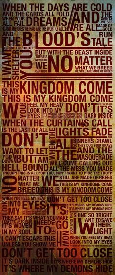 "Imagine Dragons - ""Demons"" lyrics. I love this song :)"