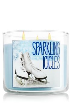 Sparkling Icicles 14.5 oz. 3-Wick Candle - Slatkin & Co. - Bath & Body Works, first winter candle of the year.