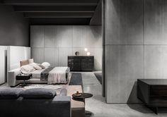 "Yang Bed ""Offset"" and Morrison drawers, Rodolfo Dordoni Design"