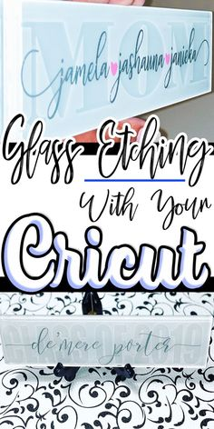 Learn how to etch glass for beautiful gifts and home decor projects. Find out how your Cricut to create stencils for glass etching. Cricut VINYL Crafts Learn how to etch glass for beautiful gifts and home decor projects. Find out how your Cricut Cricut Ideas, Cricut Tutorials, Ideas For Cricut Projects, Cricut Vinyl Projects, Cricut Explore Projects, Cricut Stencils, Hobby Ideas, Project Ideas, Craft Projects