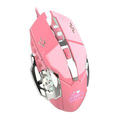 Game Mouse Pink Adjustable Mice USB Opto-electronic Wired Mouse Stylish And Beautiful For Notebook Laptop PC Computer – Computer & Office Pc Computer, Laptop Computers, Computer Mouse, Pink Games, Cheap Mouse, Button Game, Cool Shapes, Pc Mouse, Metal Texture