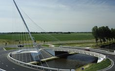 BRIDGES OVER THE HOOFDVAART in DEDEMSVAART. Santiago Calatrava