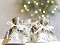 Advent calendar bags from linen