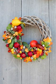 Halloween Flowers, Autumn Wreaths, Wreaths For Front Door, Ikebana, Grapevine Wreath, Natural, Handmade Items, Photos, Fall