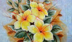 Como Pintar: Hibiscos   Amarelos.