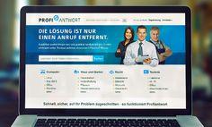 www.profiantwort.de - platforma umożliwiająca komunikację ekspertów z osobami szukającymi doradztwa // communication platform for people seeking advice from various experts