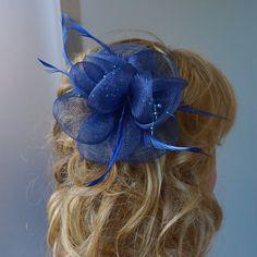 Navy Blue Fascinator, Womens Tea Party Hat, Church Hat, Derby Hat, Fancy Hat, Royal Blue Hat, Tea Party Hat,wedding hat Navy Blue Fascinator, Tea Party Hats, Church Hats, Fancy Hats, Wedding Hats, Derby Hats, Royal Blue, Trending Outfits, Unique Jewelry