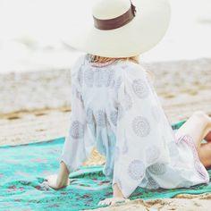 "BELL on Instagram: ""Dreaming of the beach  ☀️ #tgif #beachstyle #beach #bohochic #travel #travelstyle #resort #resortwear #boho #bohemian #style #fashion #love #prints #blockprint #BELL #ootd #vacation #tunic #dress #blouse #coverup #kimono #newstyle #shoponline | www.aliciabell.com"""