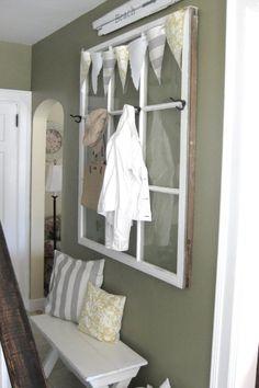 DIY déco avec cadre en vielle fenêtre sur le thème marin