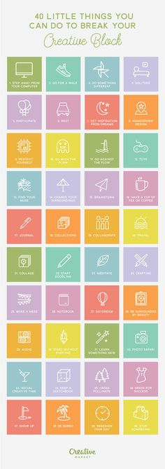 40 Little Things You Can Do To Break Your Creative Block
