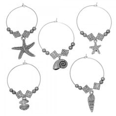 8x handmade Glasperlen Schmuck Basteln Perlen Beads DIY Silberfolie 14x12mm Blau