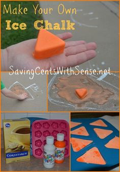 Make Your Own Ice Chalk #diy #summer #kids #crafts #fun