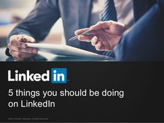 5 Tips for Improving Your Presence on LinkedIn [SlideShare] / via @hubspot / //// LinkedIn is a network for showing off your career successes, rewards, and goals. Is your profile up-to-par? Learn the five things you should be doing. #LinkedIn #SocialMedia #Networking