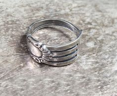 Miniature sterling silver plated fork ring. - Barton Boutique