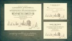 CAMPING WEDDING INVITATION