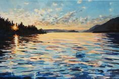 """Kelly Johnston. Lake Pend Oreille. 2015. Water soluble oil on canvas. 20"""" x 30"""""""