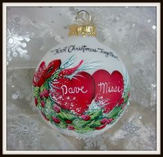 Check out this item in my Etsy shop https://www.etsy.com/listing/248036419/first-christmas-together-ornament-hearts