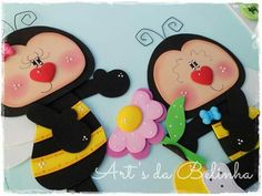 En fomy ✿⊱╮ Tole Painting Patterns, Educational Activities, Paper Piecing, Scrapbook Paper, Minnie Mouse, Bunny, Baby Shower, Quilts, Dolls