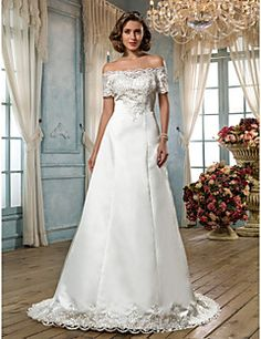 Classic & Timeless/Glamorous & Dramatic A-line Off-the-shoul... – USD $ 179.99