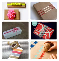 Colourful diy gift wrapping!