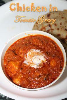 YUMMY TUMMY: Chicken in Tomato Gravy Recipe