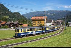 High quality photograph of BOB (Berner Oberland Bahnen, Switzerland) ABeh # 306 at Wilderswil, Switzerland. Swiss Railways, Lausanne, Cali, Switzerland, Castles, Trains, Transportation, Photograph, Architecture
