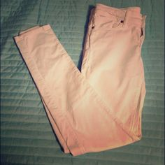 """Crisp White Skinny Jeans ( FIRM$) 32"""" inseam, perfect condition! No signs of wear, I lost weight and they no longer fit. Pants"""