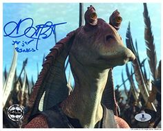 AHMED BEST SIGNED 8x10 PHOTO VOICE OF JAR JAR BINKS STAR WARS OPX BECKETT BAS