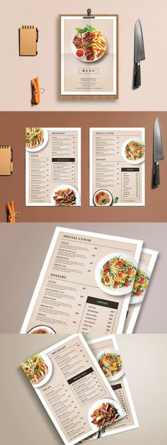 Modern Restaurant Food Menu Template PSD - Life with Alyda Menu Restaurant, Restaurant Design, Resturant Menu, Cafe Menu Design, Menu Card Design, Restaurant Menu Template, Restaurant Recipes, Speisenkarten Designs, Food Menu Template