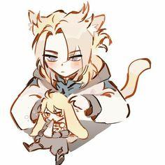 Albedo, Ship Art, Love Symbols, Pretty Men, Otaku, Anime Demon, Cat Ears, Chibi, Sketches