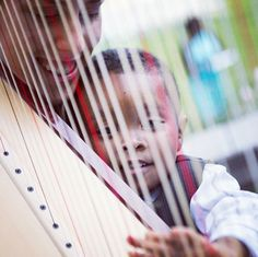 Every child should experience the wonder of a harp :)