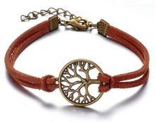 christian geschenken 2015 warm te koop diy hopen boom armbanden voor mannen de beste vriend armband vriendschap bruin touw armband charme armbanden(China (Mainland))