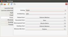 unsettings, ubuntu