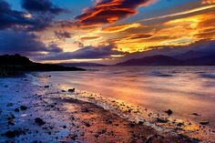 Windy sunrise | Borgarnes, Iceland