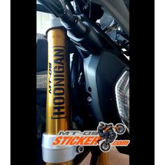 In stock now ! Yamaha MT-09 Hoonigan forks stickers decals graphic kit! Many…
