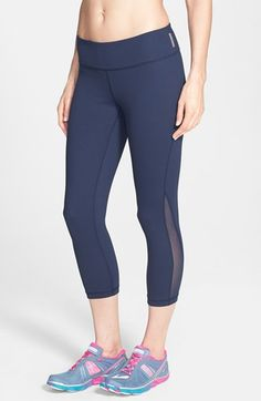 love the navy color--Zella 'Live In - Streamline' Reversible Mesh Inset Capris available at #Nordstrom