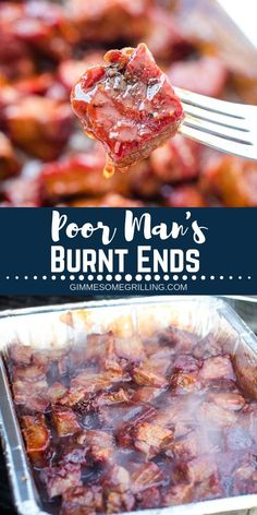 This delicious Burnt Ends Recipe uses a chuck roast instead of a brisket. They are fall apart tender Traeger Recipes, Smoked Meat Recipes, Barbecue Recipes, Steak Recipes, Barbacoa, Smoked Chuck Roast, Chuck Roast Recipes, Burnt Ends, Grilling