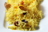 Dry Fruit Pulao: Rich pulao made with dry fruits and saffron.