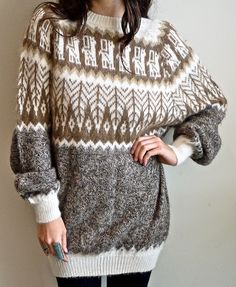 Vintage Alpaca Sweater at PrismOfThreads on etsy