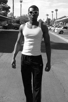 Kareem, North Las Vegas: http://www.thedigeologist.com/kareem-north-las-vegas/ - via:@richmbariket #model #tanktop #fitness