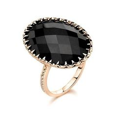 Rose Gold Collection by Ivanka Trump, Black Onyx Cocktail Ring with Diamond Accents, in 18kt Rose Gold