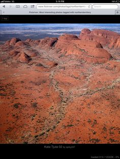 Aerial view of the Olgas