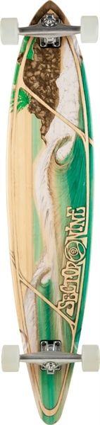 """Sector 9 Honolua Complete Longboard.     Dimensions:  46.0"""" L x 10.0"""" W x 32.5"""" WB    Hardware:  10.0"""" Gullwing Charger Trucks  70mm 75a Nineball Wheels  Abec 5 PDP Bearings  0.125"""" Sector 9 Recycled Plastic Risers  1.5"""" Low Pro Hardened Steel Bolts  Clear Grip Tape"""