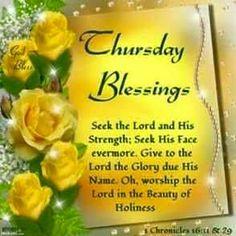 Thursday Blessings.God Bless.
