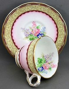 Royal Stafford Teacup & Saucer-Windsor L 13